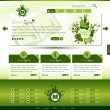 Green eco website template — Stok Vektör
