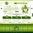 Green eco website template — Stock Vector