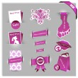 Pink labels for women shop — Stock Vector