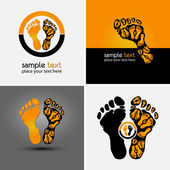 Footprint symbol — Vector de stock