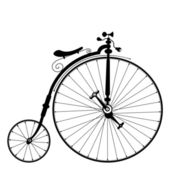 Old bicycle — Vector de stock