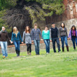 Stock Photo: Multicultural Group of Walking Together