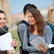 Group of Multiracial College Students, — Stock Photo