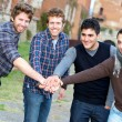 Happy Group of Boys Outside - Foto Stock