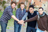 Happy Group of Boys Outside — Stock Photo