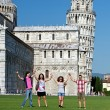 Four Friends on Vacation Visiting Pisa — Stock Photo #11069288