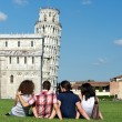 Four Friends on Vacation Visiting Pisa — Stock Photo #11069397