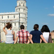 Four Friends on Vacation Visiting Pisa — Stock Photo #11069428