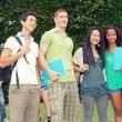 Stock Photo: Multicultural Group of College Students