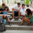 Multicultural Group of College Students - Stock Photo