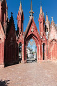 Cemetery gate entrance — Stock Photo