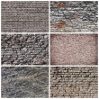 Стоковое фото: Set of stone Background and Texture