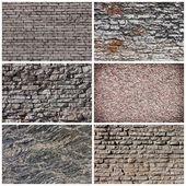 Set stenen achtergrond en textuur — Stockfoto
