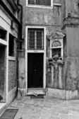 Venetië huis zwart-wit — Stockfoto