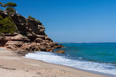 Beautiful small beach on the coast of Costa Brava, Spain — Stock Photo