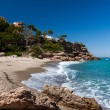 Beautiful small beach on the coast of Catalonia — Stock Photo