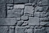 酷复古灰色石头墙纹理背景 — 图库照片