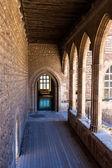 Inside 13th century citadel castle in France — Stock Photo