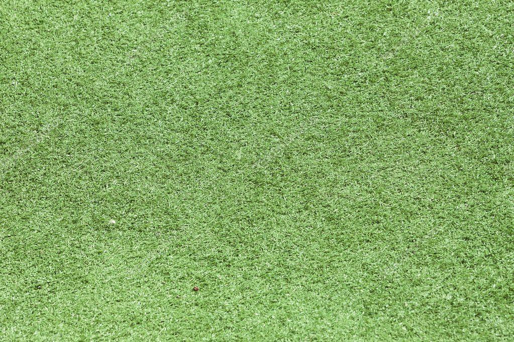 Green Plastic Grass Field Top View Texture