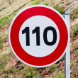 Speed limit traffic sign — Stock Photo #11441940