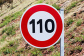 Speed limit traffic sign — Stock Photo