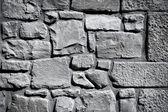 Doku arka plan serin vintage siyah beyaz taş duvar — Stok fotoğraf