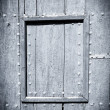 Black and white painted wood door - Lizenzfreies Foto