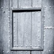 Black and white painted wood door - Stockfoto