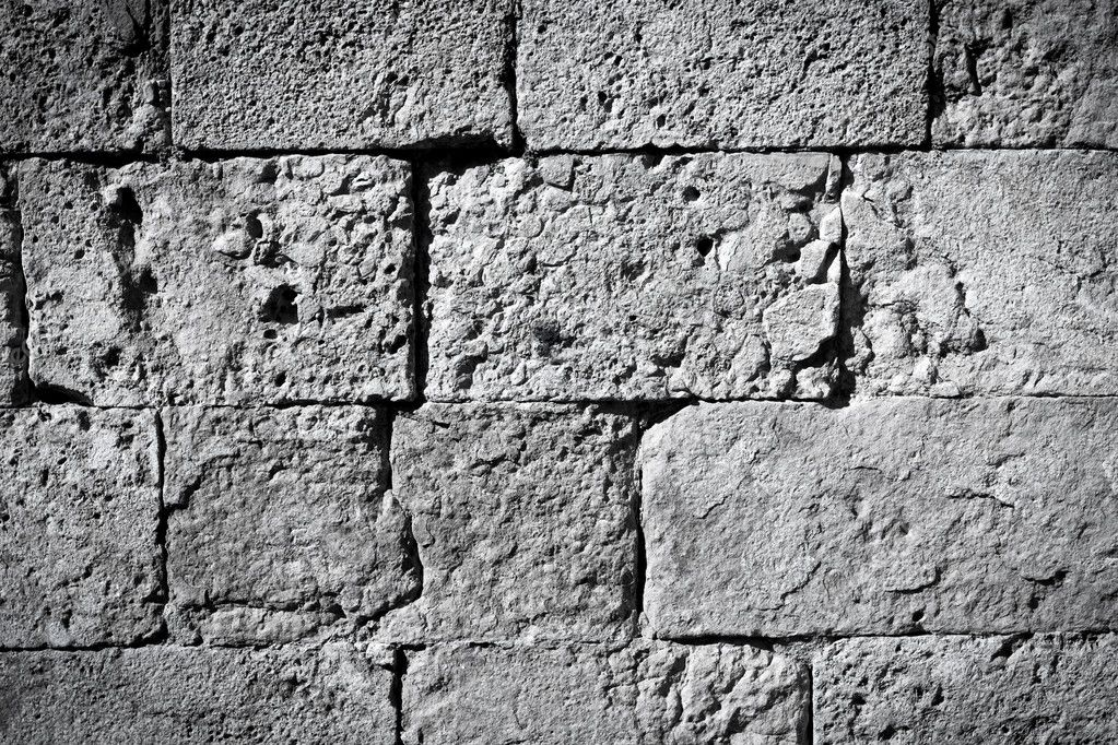 Black And White Brick Wall Texture Background Stock