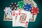 Cards combination in Black Jack in hand — Stock fotografie