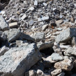Building concrete debris remains — Stock Photo