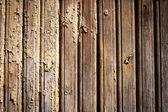 Gamla väderbitna målad trä vägg bakgrund — Stockfoto