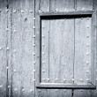 Black and white painted wood door — Foto Stock #11784857