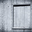 Stock Photo: Black and white painted wood door