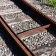 Stock Photo: Railway rail road track
