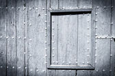 Black and white painted wood door — Stock Photo