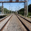 Railway rail road track — Stock Photo