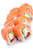 Uramaki. Philadelphia classic. — Stock Photo