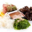 Stock Photo: Salad. Kaiso Sarada. On white background. Chuck, Tohsaka, Cora
