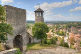 Tower of Saint-Hyppolyte over Cremieu — Stock Photo