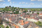 Aerial of Cremieu from Saint-Hippolyte Hill — Stock Photo