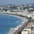 The Coast at Nice from Castle Hill — Stock Photo