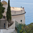 Mediterranean Sea from Castle Hill in Nice - Stock Photo