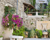 Small Garden in France — Stock Photo