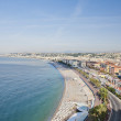 The Coast at Nice from Castle Hill - Stock Photo