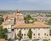 Aerial View of Castiglione del Lago from the Fortress — Stock Photo