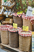 Baskets of Dried Beans — Stock Photo