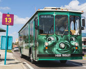 Trolley for Tourists in Orlando — Stock Photo
