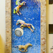 Mosaic of Horses in Lexington Kentucky — Stock Photo