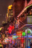 Bourbon Street Neon Lights — Stock Photo